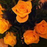 Jede Autorin bekommt so einen schönen Rosenstrauß