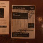 Talk Noir Veranstaltungsplakat Berlin