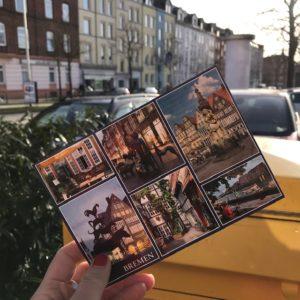 letzte Bremer Postkarte abschicken