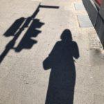 Früh mit meinem Schatten unterwegs …