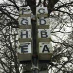 Auf dem Klinikgelände gibt es Buchstaben
