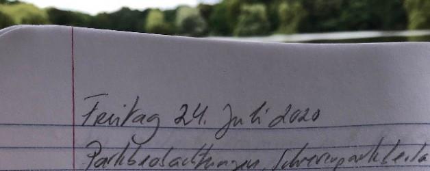 Aus meinem Notizbuch oder Schrevenparkbeobachtungen im Juli 2020
